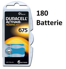 180 pile batterie protesi apparecchio acustico DURACELL mod 675 PR44 3 scatole