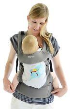 Mo+m Baby Carrier/Infant-Toddler-Head Support/Storage/Bottle Pocket/Mesh Window