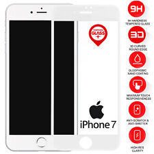 2 X Real Tempered Glass Film Screen Protector For Apple iPhone 7 White