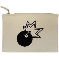 'Bomb' Canvas Clutch Bag / Accessory Case (CL00013433)