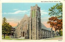 FMRA INDIANA PA ZION LUTHERAN CHURCH POSTCARD a337