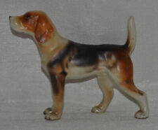"Ceramic Foxhound Dog Figure~Porcelain~3.25""~Ja pan Figurine~Repaired~Hound"