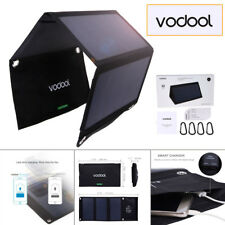 Vodool 21W Dual USB Ports Solar Panel SunPower Fast Charger for Hiking Camping
