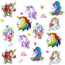 Einhorn Tattoo Set romantisch bunte temporäre Tattoos Unicorn Kinder Geburtstag