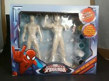 New Marvel Ultimate Spider Man Spiderman And Lizard Paint your own Statue Figure