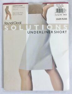 ROUND THE CLOCK by Danskin Shaper Short Underliner Short Pale Beige Size B