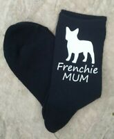 Frenchie Mum Ladies Navy Socks Vinyl Printed French Bulldog Mothers Day Gift