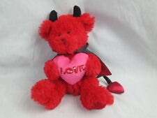 HORNY DEVIL VALENTINE BLACK HORN SATIN CAPE RED PINK LOVE HEART PLUSH WALMART