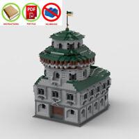 LEGO MOC   PDF Instructions (NO BRICKS) - Winterfell Side Castle