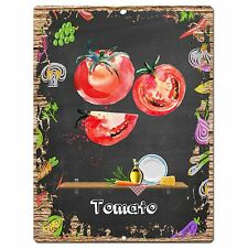 Pp0884 Tomato Parking Plate Chic Sign Home Restaurant Cafe Kitchen Decor Gift