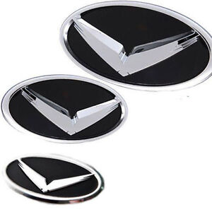 V Eagle Logo F R Steering Wheel Emblem Cap 3p 1Set For 2005-2009 Hyundai Tucson