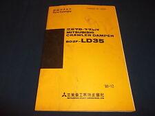 MITSUBISHI BD2F-LD35 CRAWLER DAMPER PARTS BOOK MANUAL