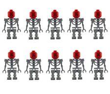 LEGO 10 GRIGIO ossature Diavolo Rosso Bianco Testa SKELETON RED DEVIL Mini Personaggio Nuovo