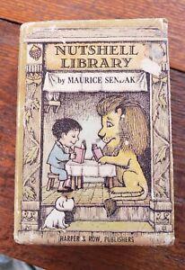 "Nutshell Library 1962 Maurice Sendak Box Set 4""x2 3/4"" VG condition dj hardcover"