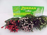 3 Büsche Blühend ohne Fuß Höhe ca. 5 cm Eisenbahn Modellbau Jordan 9 C  45206