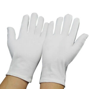 Men Women Etiquette White Cotton Gloves Waiters/Drivers/Jewelry/Workers Mittens