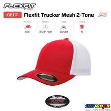 FLEXFIT TRUCKER MESH CAP PLAIN BLANK BASEBALL HAT FLEX FIT CURVED  6511 6511T