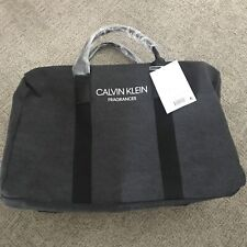NEW NWT CALVIN KLEIN Fragrances Promo Travel Duffle Gym Bag Black Gray Canvas