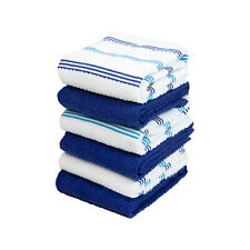6 Pack of Kitchen Tea Towels - Striped Pattern - 15 x 25 in - Soft 100% Cotton