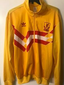 Adidas Originals Liverpool FC Yellow Trefoil Track Top Jacket - Size 2XL