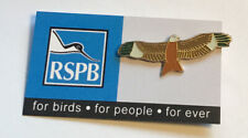 More details for rspb-pin badge red kite (green wing tips) on original (fbfpfe ) card *free post*
