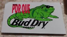 Budweiser Two BUD Dry Promotional Iguana Club Por Que Magnets New Vintage 1980's