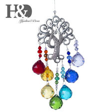 Tree Of Life Pendant Hanging Crystal Rainbow Maker Suncatcher Glass Ball Prisms