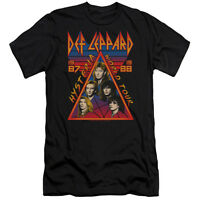 DEF LEPPARD HYSTERIA TOUR Licensed Adult Men's Graphic Band Tee Shirt SM-5XL