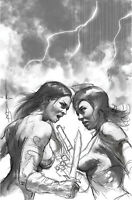 RED SONJA THE SUPERPOWERS #2 PARRILLO 1:50 B&W VIRGIN VARIANT DYNAMITE 2/10 NM