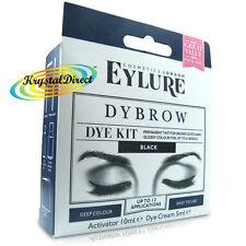 Eylure Dybrow Eye BLACK Permanent Tint Color Eyebrow Dye Kit