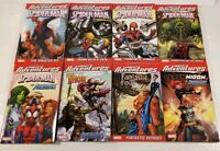 Lot Of 8 Marvel Comics Marvel Adventures Paperback Graphic Novels