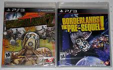 PS3 Game Lot - Borderlands 2 (New) Borderlands The Pre-Sequel! (New)