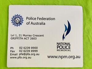 Vintage 1999. Police Federation Of Australia Mouse Pad. Like New.