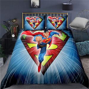Superman Red Single Double King Super King Bed Duvet Quilt Cover Set Pillowcase