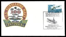 U.S. Submarine Cover - USS Holland (SS1) Centennial, Excellent Condition
