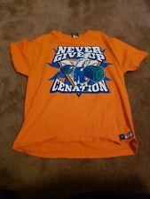 John Cena Never Give Up Cenation WWE Orange T Shirt XL