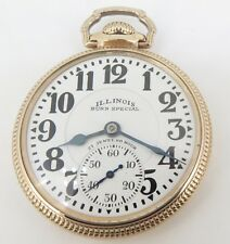.A 1931 Illinois Bunn Special 161 60HR 16s 21 Jewel Gold Filled OF Pocket Watch