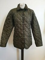 B918 WOMENS HOTTER GREEN SPRUCE QUILT COUNTRY JACKET UK SMALL S 8 EU 34 BNWT£120