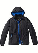 Praktische Outdoor-Jacke Jacke mit Kapuze schwarz blau Gr. 58