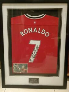 Cristiano Ronaldo Signed Authentic Manchester United Jersey - Framed