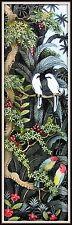 """Keliki Kawan Miniature Flora & Fauna Painting from Bali"" (7 3/8H x 2 2/8W)"
