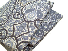 Pottery Barn Gray Multi Color Beale Paisley Cotton Full Queen Duvet Cover New