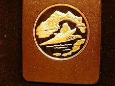 CANADIAN 1980 ELIZABETH II $100.00 22 KARAT GOLD PROOF COIN WITH COA
