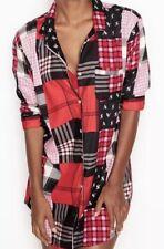 Victoria's Secret Flannel Sleepshirt Patchwork ~ Size: Medium