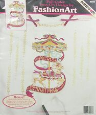 New listing Carousel of Christmas No Sew Iron on Applique Dimensions FashionArt vintage