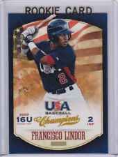 FRANCISCO LINDOR Team USA ROOKIE CARD Cleveland Indians RC Baseball PANINI LE