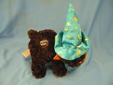 Black cat witches hat Halloween decoration scary sounds plush stuffed animal art