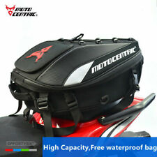 Motocentric Motorcycle Tail Bag Multifunction Motor Rear Seat Rider Backpack Bag