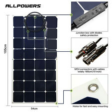 100W 18V Flexible Solar Panel Battery Power Mono Charger Kit RV Boat Generator