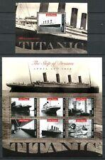 Uganda 2012 titanic barcos ships Navi bateaux frase y bloque post frescos mnh